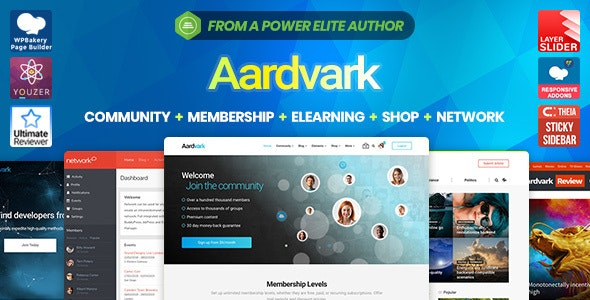 Download Aardvark v4.19 - Community, Membership, BuddyPress Theme