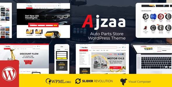 Download Ajzaa v2.4.2 - Auto Parts Store WordPress Theme