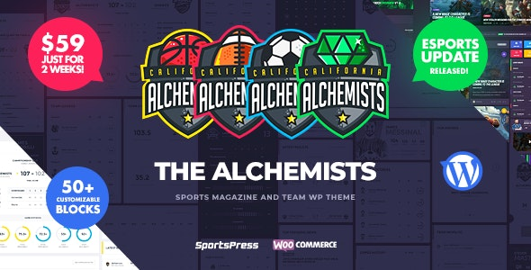 Download Alchemists v4.0.2 - Sports, eSports & Gaming Club and News WordPress Theme