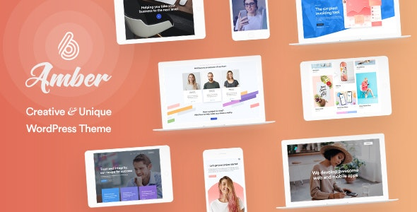 Download Amber Six v1.2 - Creative and Multipurpose WordPress Theme