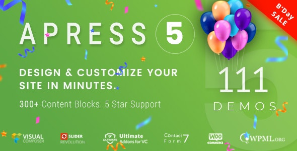 Download Apress v5.1.2 - Responsive Multi-Purpose Theme