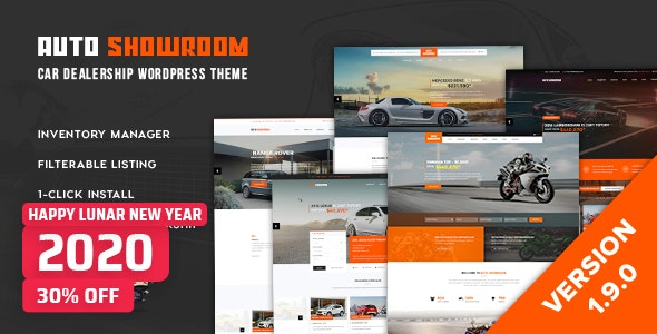 Download Auto Showroom v1.9.1 - Car Dealership WP Theme