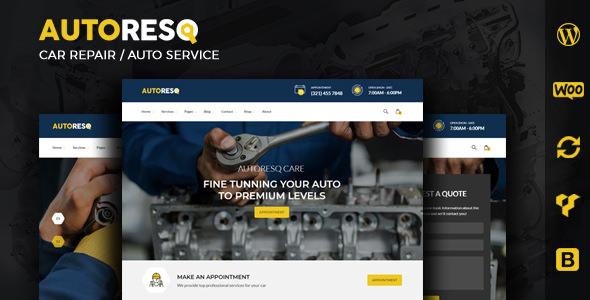 Download Autoresq v2.1.8 - Car Repair WordPress Theme