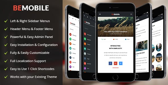 Download Be Mobile Theme v1.6 - Mobile WordPress Theme