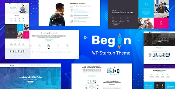 Download Begin v1.9 - Startup, SaaS WordPress Theme