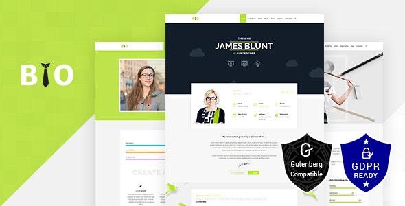 Download Bio v1.7 - Resume, CV, Freelancer WordPress Theme