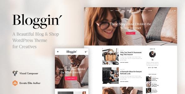 Download Blggn v1.4.0 - A Responsive Blog & Shop WordPress Theme