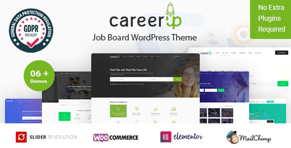 Download CareerUp v1.1.24 - Job Board WordPress Theme