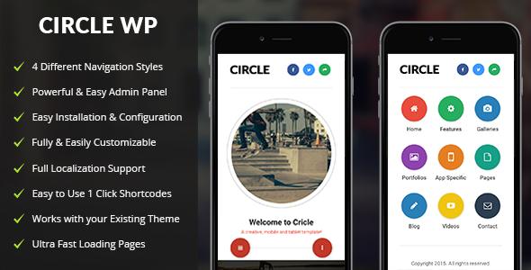 Download Circle Mobile v1.4 - Mobile WordPress Theme