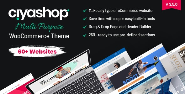 Download CiyaShop v3.5.1 - Responsive Multi-Purpose Theme nulled