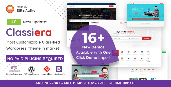 Download Classiera v4.0.10 - Classified Ads WordPress Theme