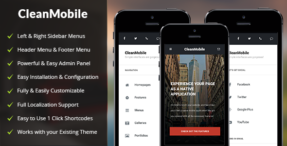 Download Clean Mobile v1.5 - Mobile WordPress Theme