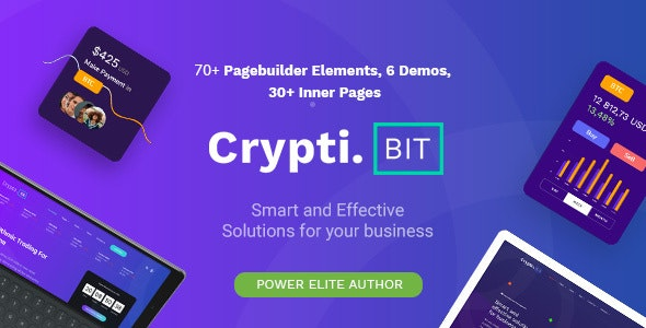 Download CryptiBIT v1.0.1 - Technology, Cryptocurrency, ICO/IEO Landing Page WordPress theme