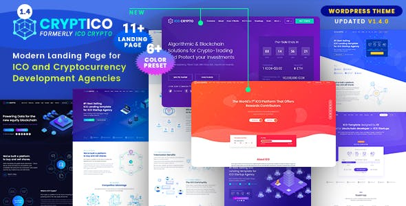 Download Cryptico v1.4.6 - ICO Crypto Landing & Cryptocurrency Theme
