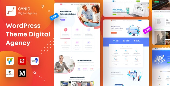 Download Cynic v1.11 - Digital Agency WordPress Theme
