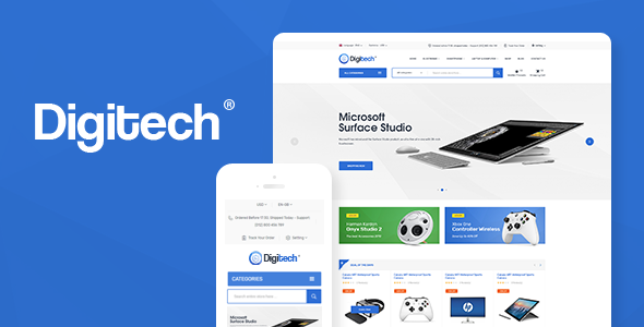 Download Digitech v1.0.9 - Technology Theme for WooCommerce