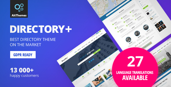 Download Directory+ v2.72 - WordPress Theme