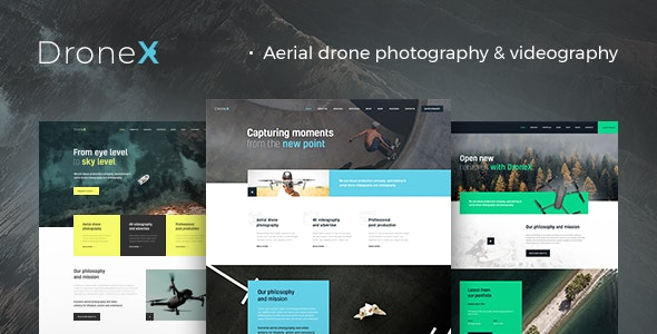 Download DroneX v1.1.1 - Aerial Photography & Videography WordPress Theme
