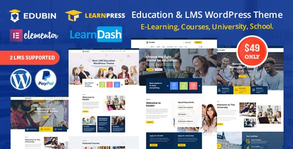 Download Edubin v4.0.6 - Education LMS WordPress Theme
