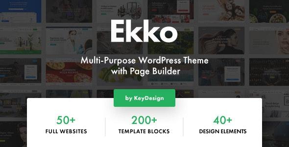 Download Ekko v1.3 - Multi-Purpose WordPress Theme with Page Builder nulled