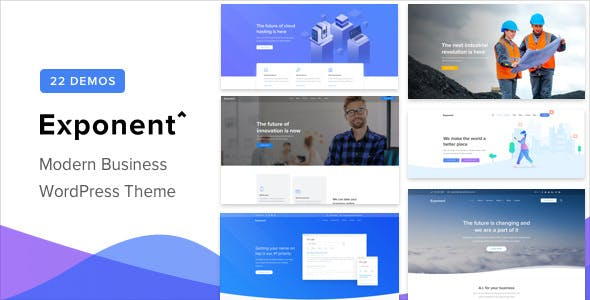 Download Exponent v1.2.8.2 - Modern Multi-Purpose Business Theme