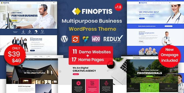 Download Finoptis v2.2 - Multipurpose Business WordPress Theme