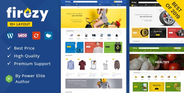 Firezy v1.0 - Multipurpose WooCommerce Theme (7 February 2020)