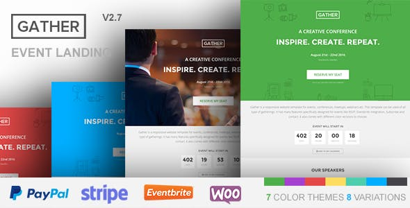 Download Gather v3.0.3 - Event & Conference WP Landing Page Theme