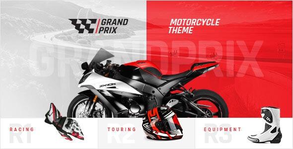 Download GrandPrix v1.0 - Motorcycle WordPress Theme