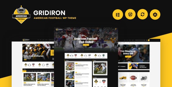 Download Gridiron v1.0.2 - American Football & NFL Superbowl Team WordPress Theme
