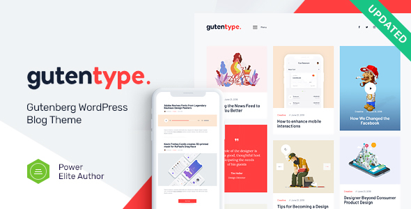 Download Gutentype v1.9.2 - 100% Gutenberg WordPress Theme