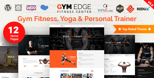 Download Gym Edge v3.7.3 - Gym Fitness WordPress Theme