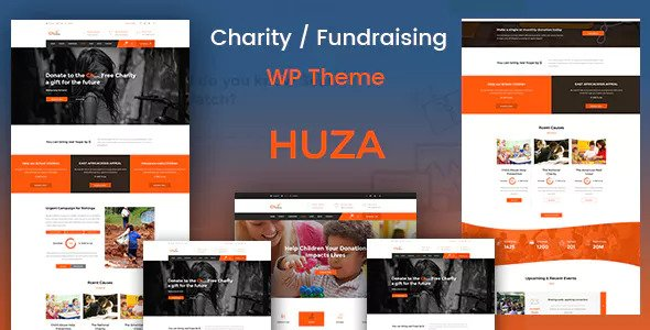 Download Huza v1.12 - Charity/Fundraising Responsive Theme