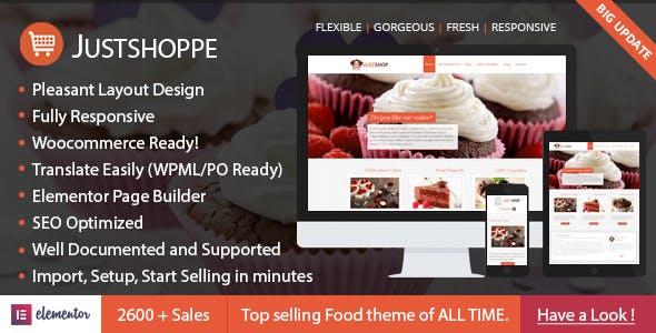 Download Justshoppe v10.1 - Elementor Cake Bakery WordPress Theme