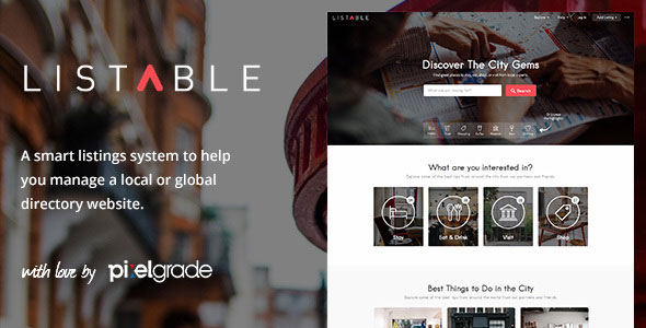 Download LISTABLE v1.12.0 - A Friendly Directory WordPress Theme