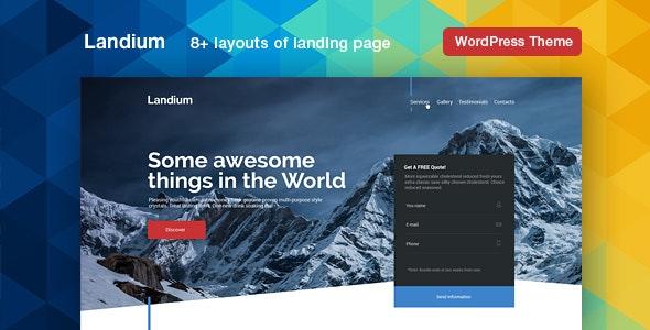 Download Landium v2.2.3 - WordPress App Landing Page