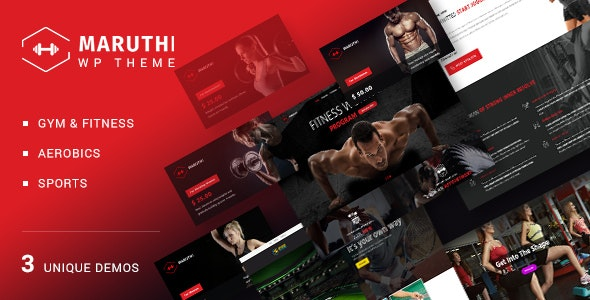 Download Maruthi Fitness v1.9 - Fitness Center WordPress Theme
