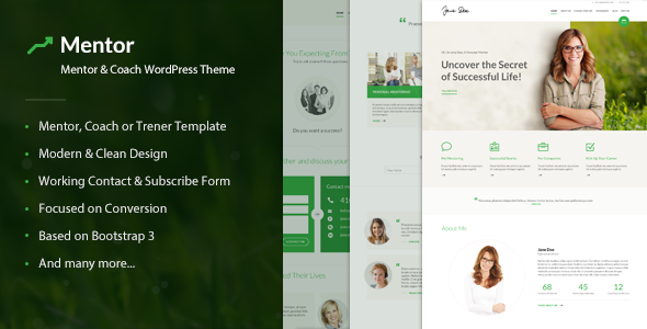 Download Mentor v2.2.2 - Personal Development Coach Theme