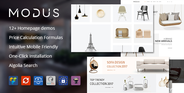 Download Modus v1.5.6 - Modern Furniture WooCommerce Theme