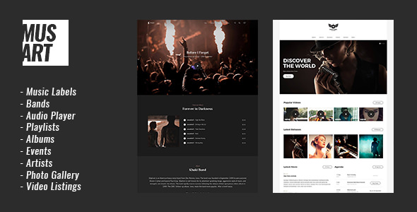 Download Musart v1.1.3 - Music Label and Artists WordPress Theme