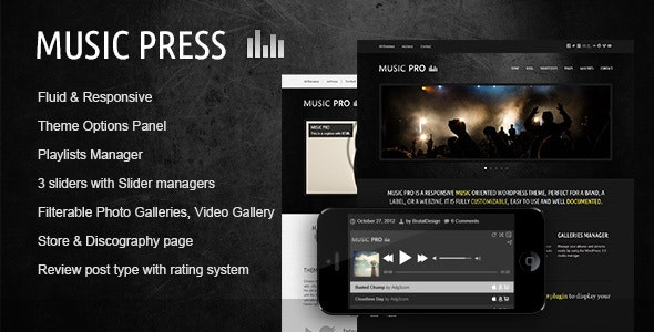 Download MusicPress v3.3.1 - A Timeless Audio Theme