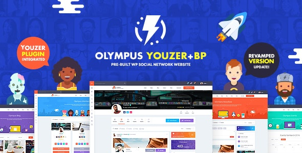 Download Olympus v2.7 - Powerful BuddyPress Theme for Social Networking