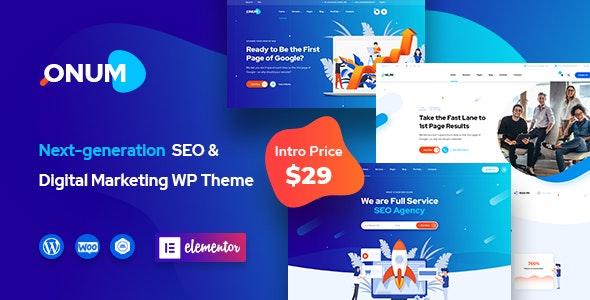 Download Onum v1.1.2.2 - SEO & Marketing Elementor WordPress Theme