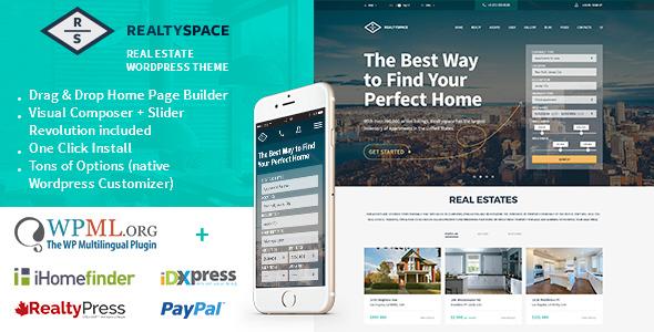 Download Realtyspace v1.4.19 - Real estate WordPress Theme