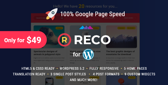 Download Reco v4.0.5 - Minimal Theme for Freebies