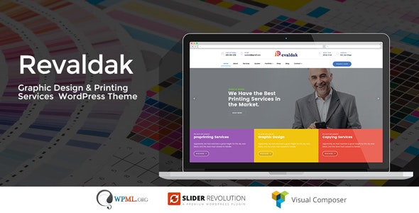 Download Revaldak v1.9 - Printing Services WordPress Theme
