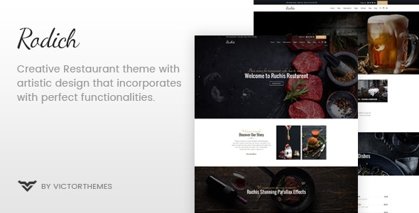 Download Rodich v1.9 - A Restaurant WordPress Theme