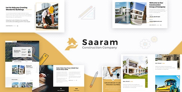 Download Saaram v1.3 - Architect WordPress