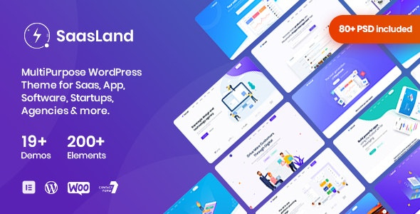 Download SaasLand v2.2.8 - MultiPurpose Theme for Saas & Startup