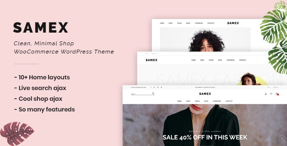 Download Samex v1.4 - Clean, Minimal Shop WooCommerce WordPress Theme